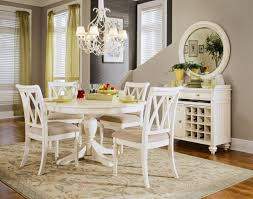 Round Kitchen Table White Wooden Base On White Rug Ideas White Dining Table And Chairs Black
