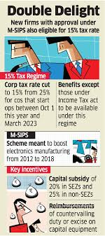 M Sips Scheme M Sips Lower Tax Rate Boost For It Telecom