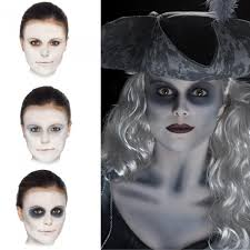 halloween makeup kit for kids. an instant ghost make up kit with everything you need to create the look facepaint palette, cream up, detail crayon and applicators plus full halloween makeup for kids f
