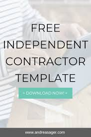 Independent Contractor Web Design Free Independent Contractor Template For Download Are You A
