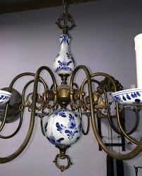 blue and white porcelain br chandelier