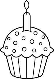 birthday cupcake clip art black and white. Exellent Black Best Cupcake Clipart Black And White 5199  Clipartioncom With Birthday Clip Art Pinterest