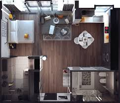 One Bedroom Apartment Design Artists Young Professionals And Just Those People Who Want A