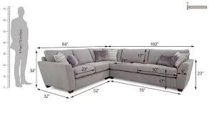 lucian l shape fabric sofa ivory