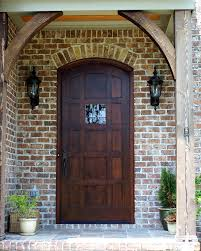 front french doorsPictured is a Country French Segment Top Exterior Wood Entry Door