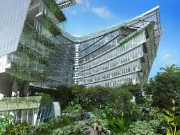 green office building. Alternative Building Materials For Green Construction - Asia Buildings Office