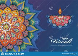Rangoli Art Designs For Diwali Diwali Festival Paper Art Design Stock Vector Illustration