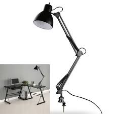 lamp office. Flexible Swing Arm Clamp Mount Lamp Office Studio Home E27/E26 Table Black Desk Light O