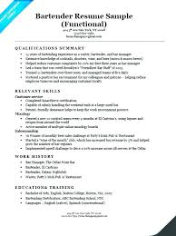 Bartending Resume Template Best Server Bartender Resume Skills Objective For Template By Fullofhell