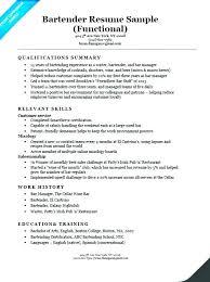 Bartending Resume Template Best Server Bartender Resume Skills Objective For Template By Fullofhell