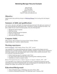 Sample Resume For Sales Amp Marketing Manager In A Hotel With 15