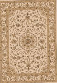 cream and gold area rug