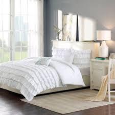 Buy White Ruffle Comforter from Bed Bath & Beyond & Intelligent Design Waterfall Reversible 5-Piece Full/Queen Comforter Set in  White Adamdwight.com