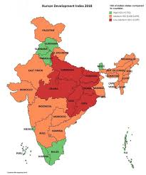 Hdi Chart 2012 Hdi Of Indian States Compared To Other Countries India