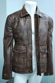 indiana jones vintage brown distressed cowhide handmade classic men s leather jacket need