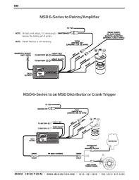 msd ignition wiring diagrams msd 6 series to msd distributor or crank trigger