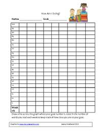 Reading Fluency Progress Chart Template Www