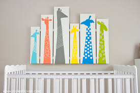 diy giraffe wall art for nursery or kid room make it and love on colorful wall art for nursery with diy giraffe nursery art or any other room make it and love it