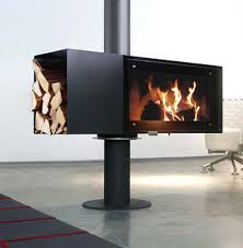 wood burning fireplace  unique and modern freestanding fireplace