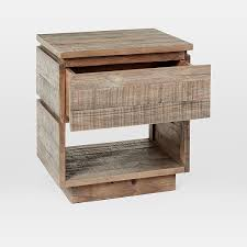 Modern night stand Wall Mounted Scroll To Next Item West Elm Emmerson Modern Reclaimed Wood Nightstand Stone Gray West Elm