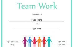 Teamwork Certificate Templates Gift Certificate Template Free Playinterchange Com