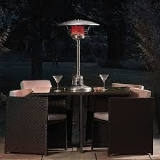 table heater. garden glow 4000w table top gas patio heater for outdoor use (