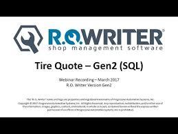 Progressive Get A Quote Extraordinary Tire Quote Gen48 RO Writer Webinar Recording YouTube