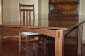 Custom Made Walnut Dining Table And Chairs by Canton Studio ...