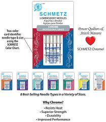 Schmetz Chrome Professional Grade Needles New Schmetz