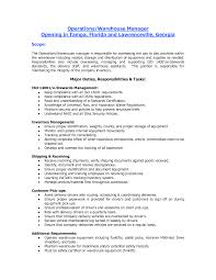 Resume Objective Examples Warehouse Resume For Study