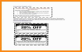10 11 Christmas Coupon Template Word Lascazuelasphilly Com