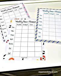 menu planner template free menu planning template