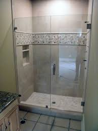 Minimalist Small Walk In Shower Ideas With Neutral Colored Ceramic Wall  Tiles Enticing Glass Door U