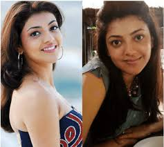 kajal looks as stunning without makeup as she looks with makeup her smile looks more worthy than the makeup and her fans love her with or without creams