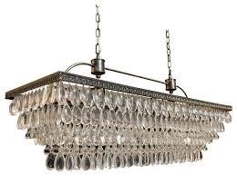 glass drop chandeliers outstanding clarissa rectangular chandelier crystal extra