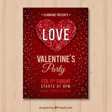 Valentines Flyers Flat Valentines Day Flyer Poster Vector Free Download