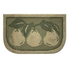 Rooster Area Rugs Kitchen Kitchen Bartlett Pears Pattern For Kitchen Area Rugs In Moss