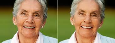 before after portrait photo before and after face retouch on makeup pho to