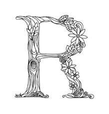 These alphabet letters and numbers are great for coloring pages and coloring sheets, crochet patterns, drawing and painting projects, svg files for. Letter R Coloring Book Vector Images Over 240
