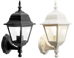 4 sided outdoor wall lantern black white motion