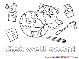 Fresh Of Get Well Soon Card Coloring Pages Images Printable