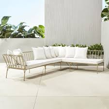 elegant outdoor furniture. le rve left arm sectional with ten pillows elegant outdoor furniture j