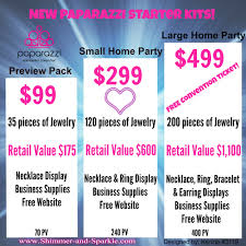 new paparazzi starter kits with shimmer