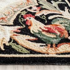 rana hand hooked rug ivory black 1 8 x2 6 farmhouse area rugs by safavieh