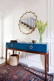 blue console table. Flower Home And Blue Tables On Pinterest Navy Console Table