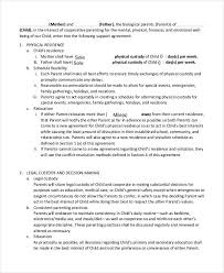 private child support agreement template child support agreement letter