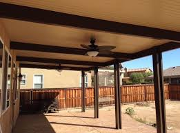 brown aluminum patio covers. Photo Of Gore Planning - Winchester, CA, United States. Faux Wood Beams Give Brown Aluminum Patio Covers