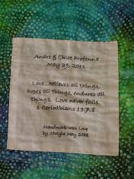 27 best Quilt labels images on Pinterest   Births, Charts and Comics & Quilt tag Andre & Chloe May 2011 Adamdwight.com