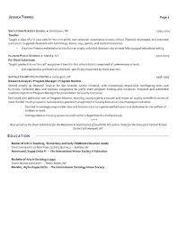 Example Of Resume For Teachers Resume Resume Skills Teacher