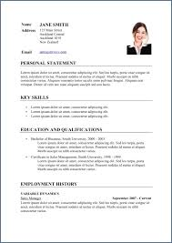 Business Cv Template Resume Example